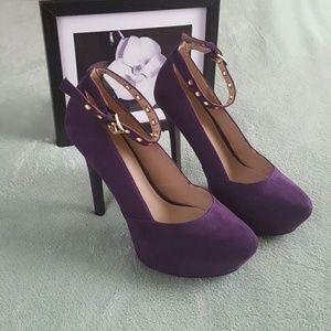 "JUSTFAB ""Dahlia"" Purple suede heels"